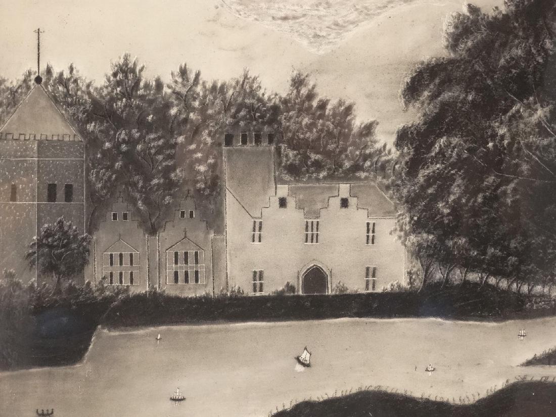 19th c. Sandpaper Drawing - 2