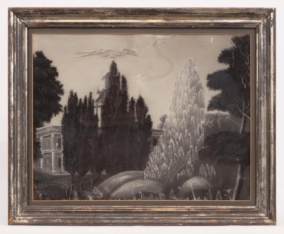19th c. Sandpaper Drawing