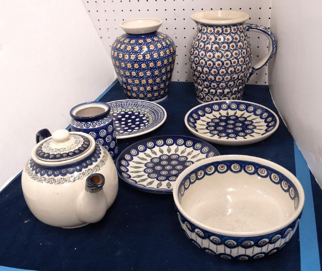 Polish Pottery Lot
