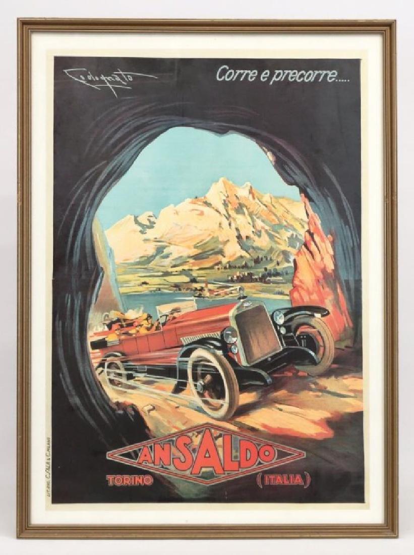 "Poster: ""ANSALDO / TORINO / ITALIA"""