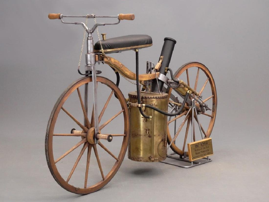 William Eggers 1867 Roper Steam Velocipede Replica