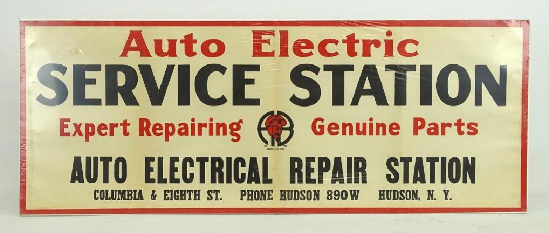 Auto Electric Service Station Sign