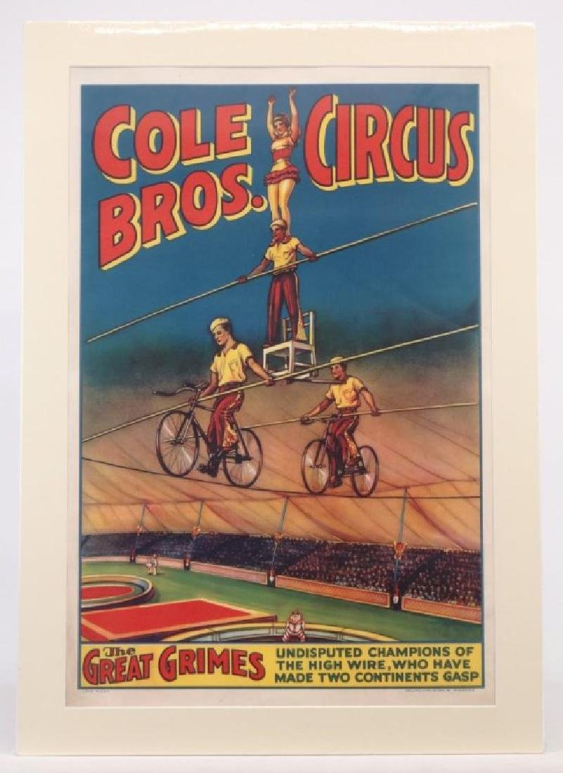 Cole Bros. Circus Poster