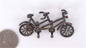 Silver Bicycle Ornament