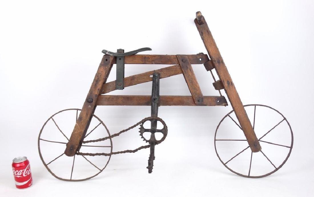 Wooden Child's Bicycle