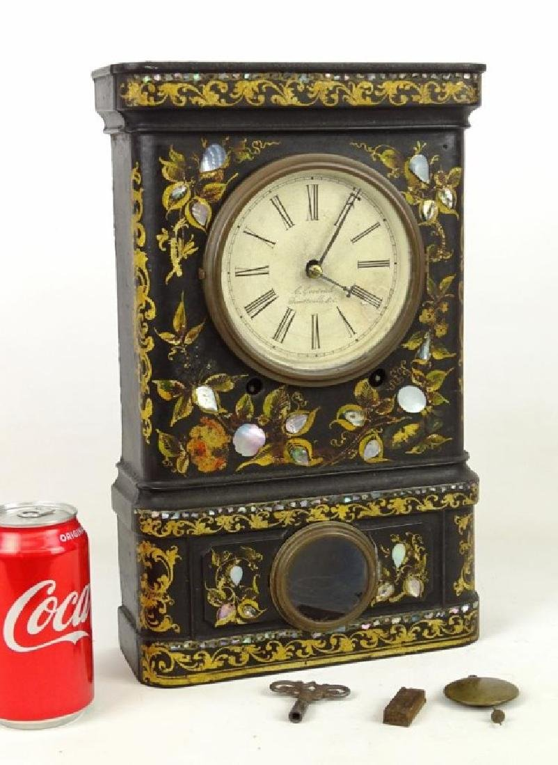 Victorian Cast Iron Clock
