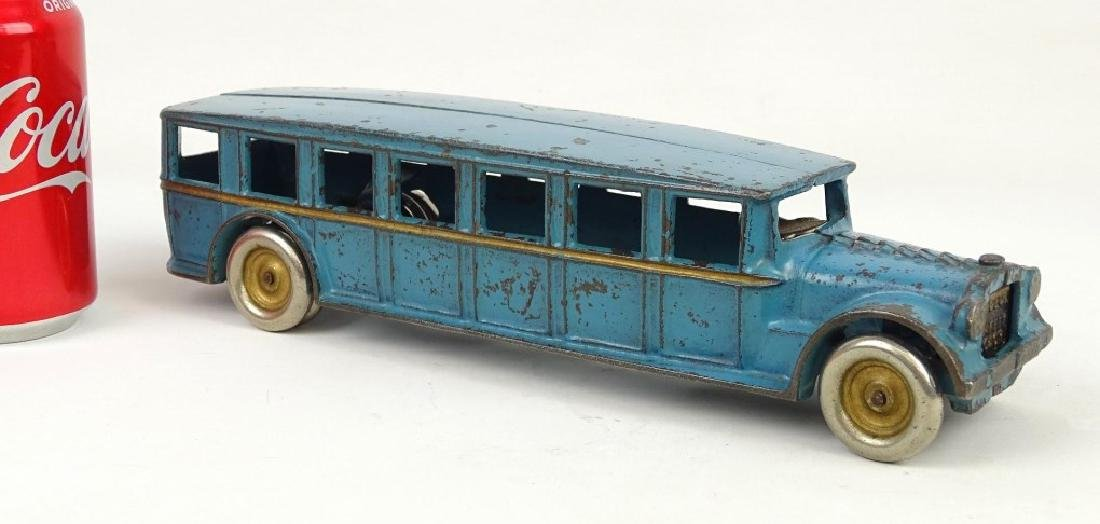 Signed Arcade Cast Iron Toy Bus