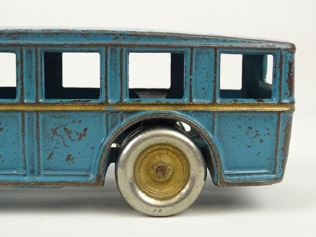 Signed Arcade Cast Iron Toy Bus - 9