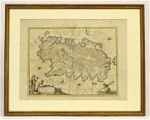 Blaeu Map Of Sardinia