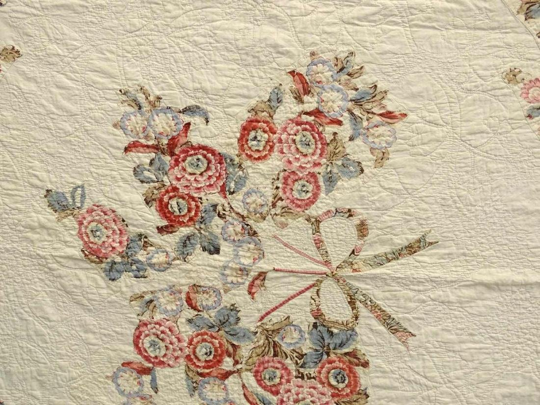 C. 1830's Broderie Perse Quilt - 4