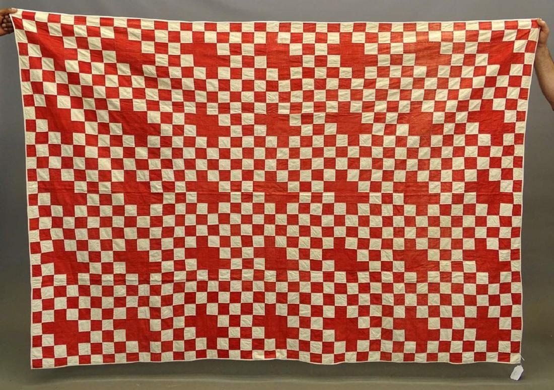 C. 1900 Red And White Quilt