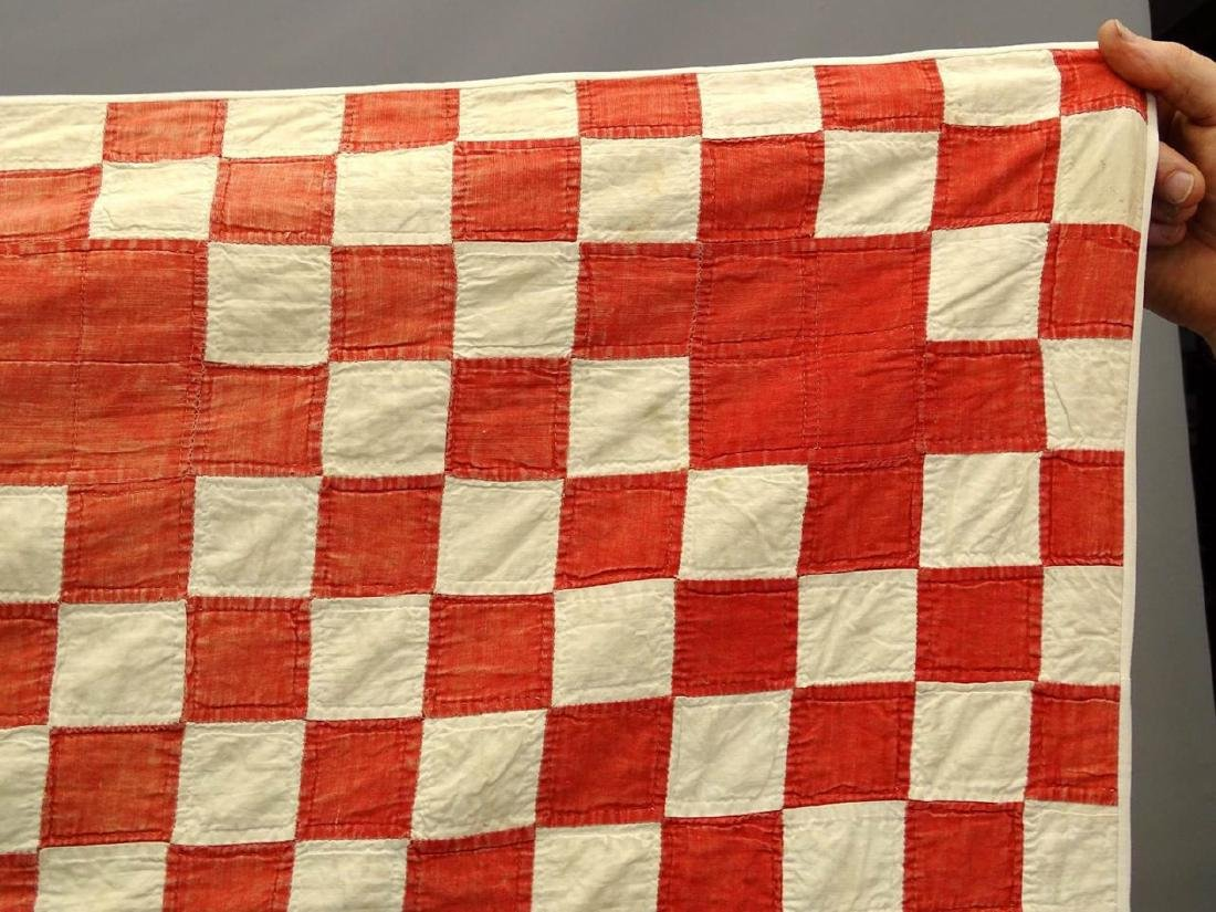C. 1900 Red And White Quilt - 2