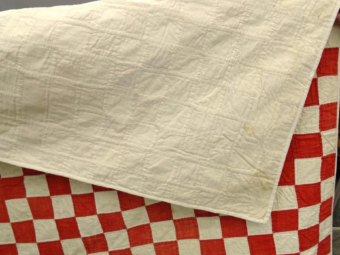 C. 1900 Red And White Quilt - 3