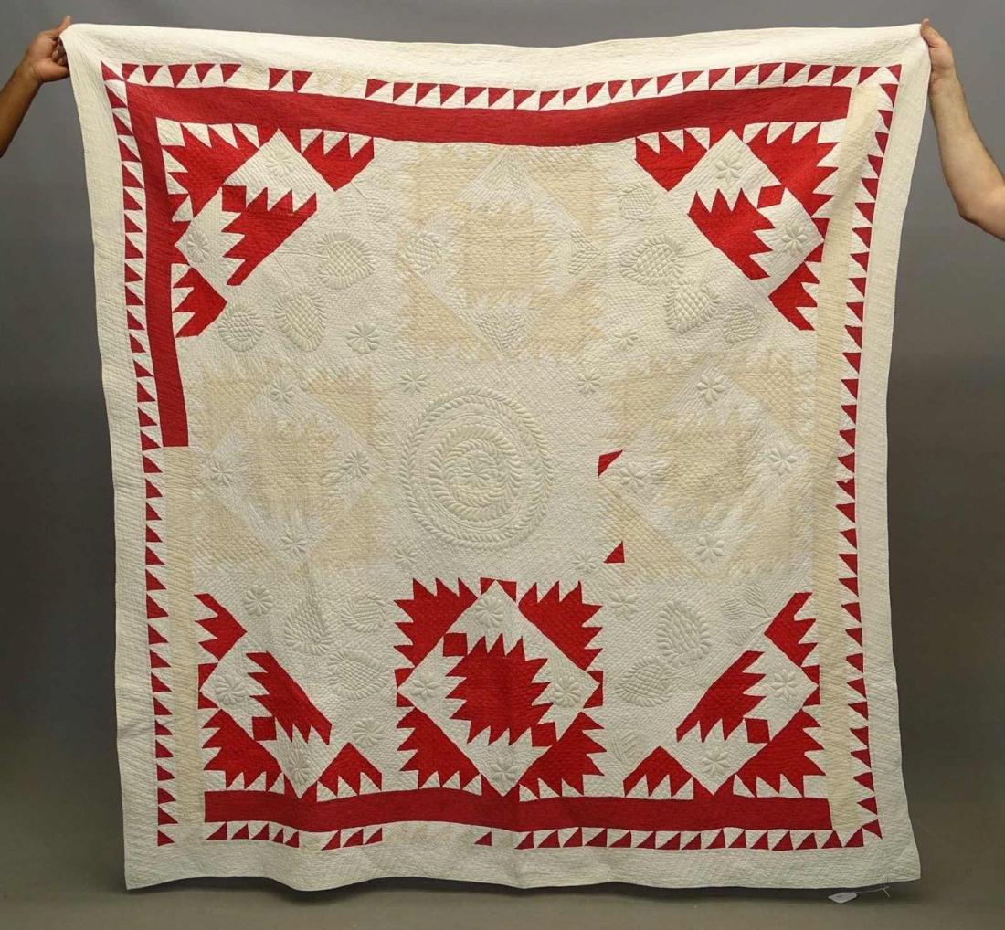 C. 1880's Trapunto Quilt