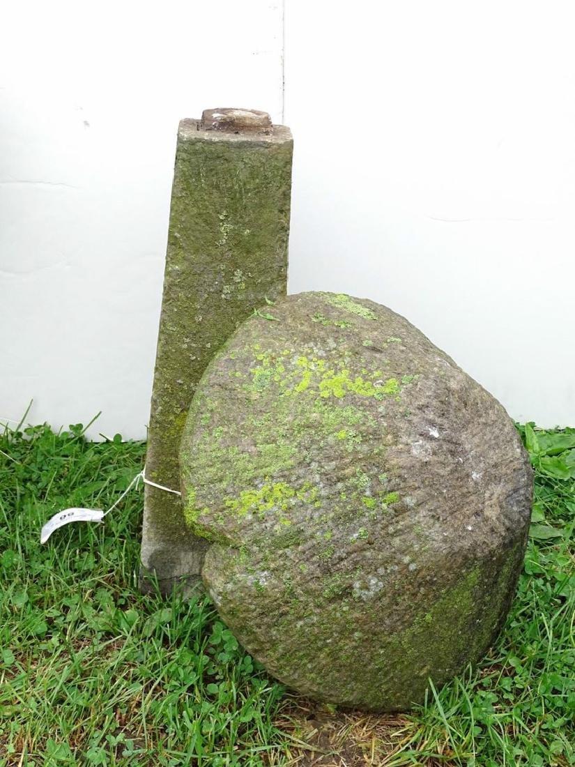 Pair Cut Stone Mushrooms - 4