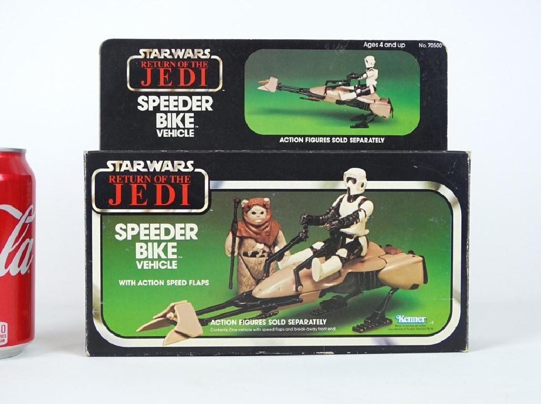 Vintage Star Wars Speeder Bike Vehicle In Box