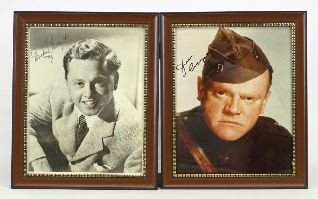 James Cagney & Mickey Rooney Autograph Lot