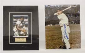 Hank Aaron  Joe Dimaggio Autograph Lot