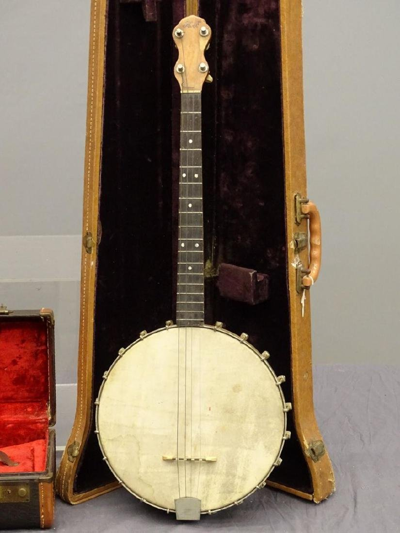 Instrument Cases And Banjo Lot - 2