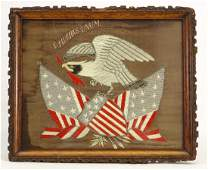 Chinese Export Patriotic Silk Embroidery