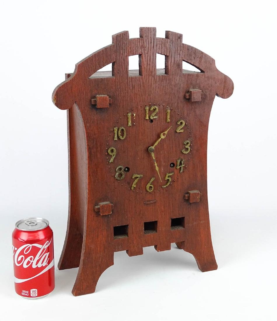 Mission Oak Mantle Clock