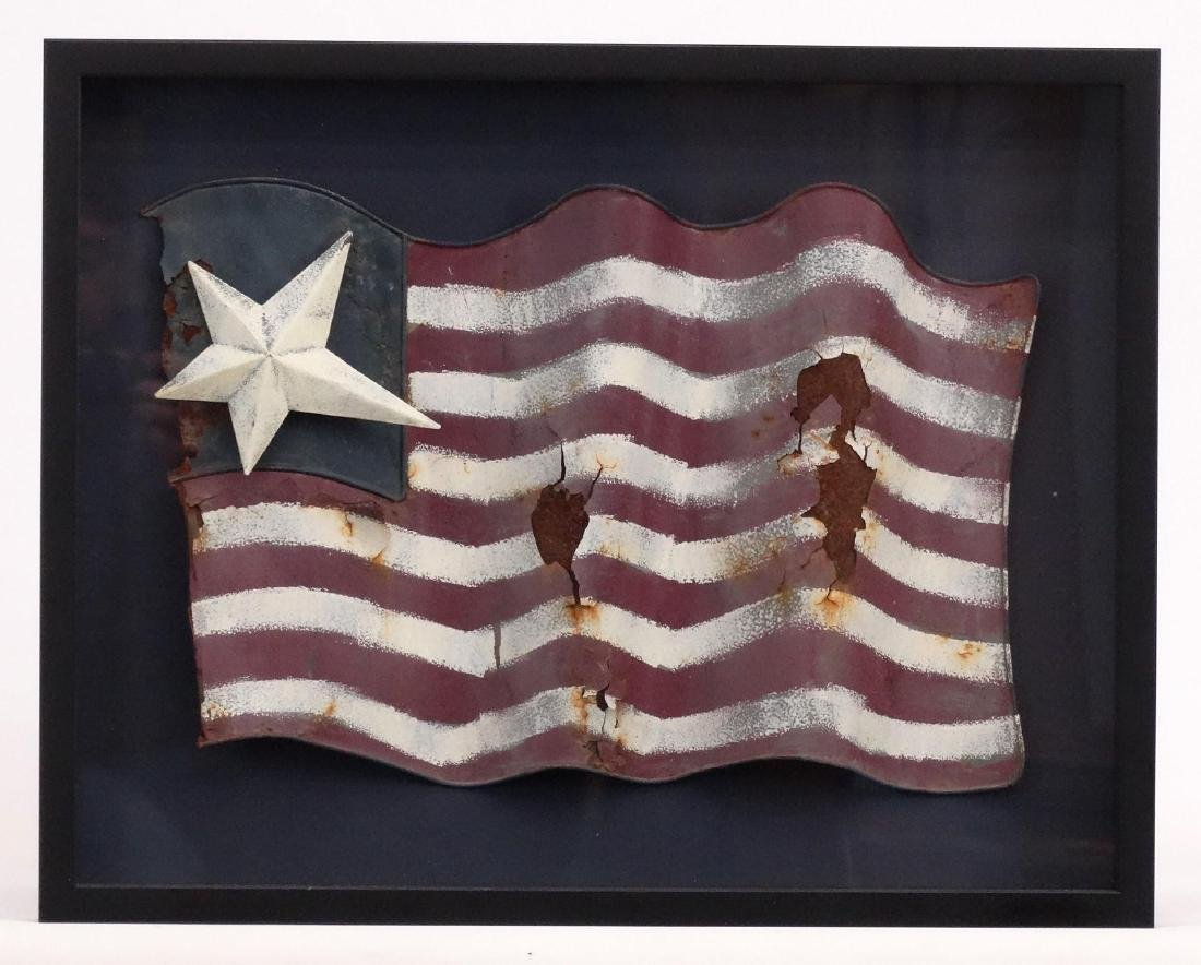 Folk Art Tin American Flag