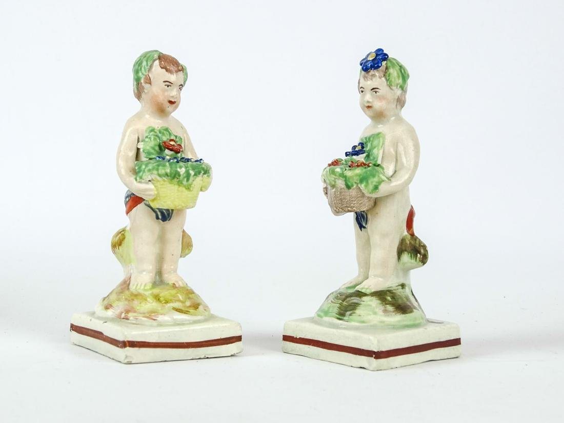 Staffordshire Four Seasons Figurines - 2