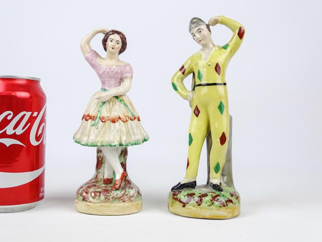 Pair Staffordshire Figures
