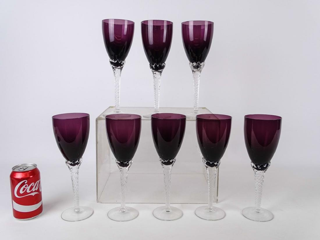 Amethyst Glass Goblets