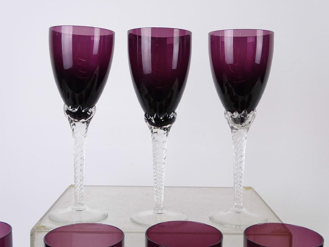 Amethyst Glass Goblets - 2