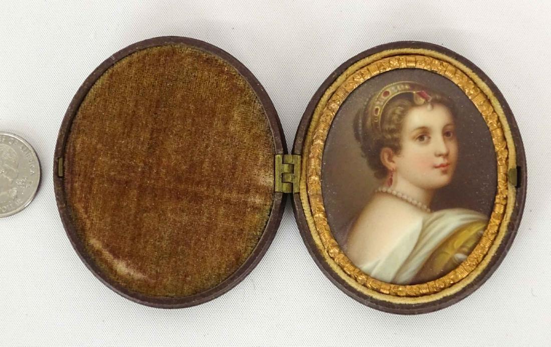 19th c. Miniature Portrait