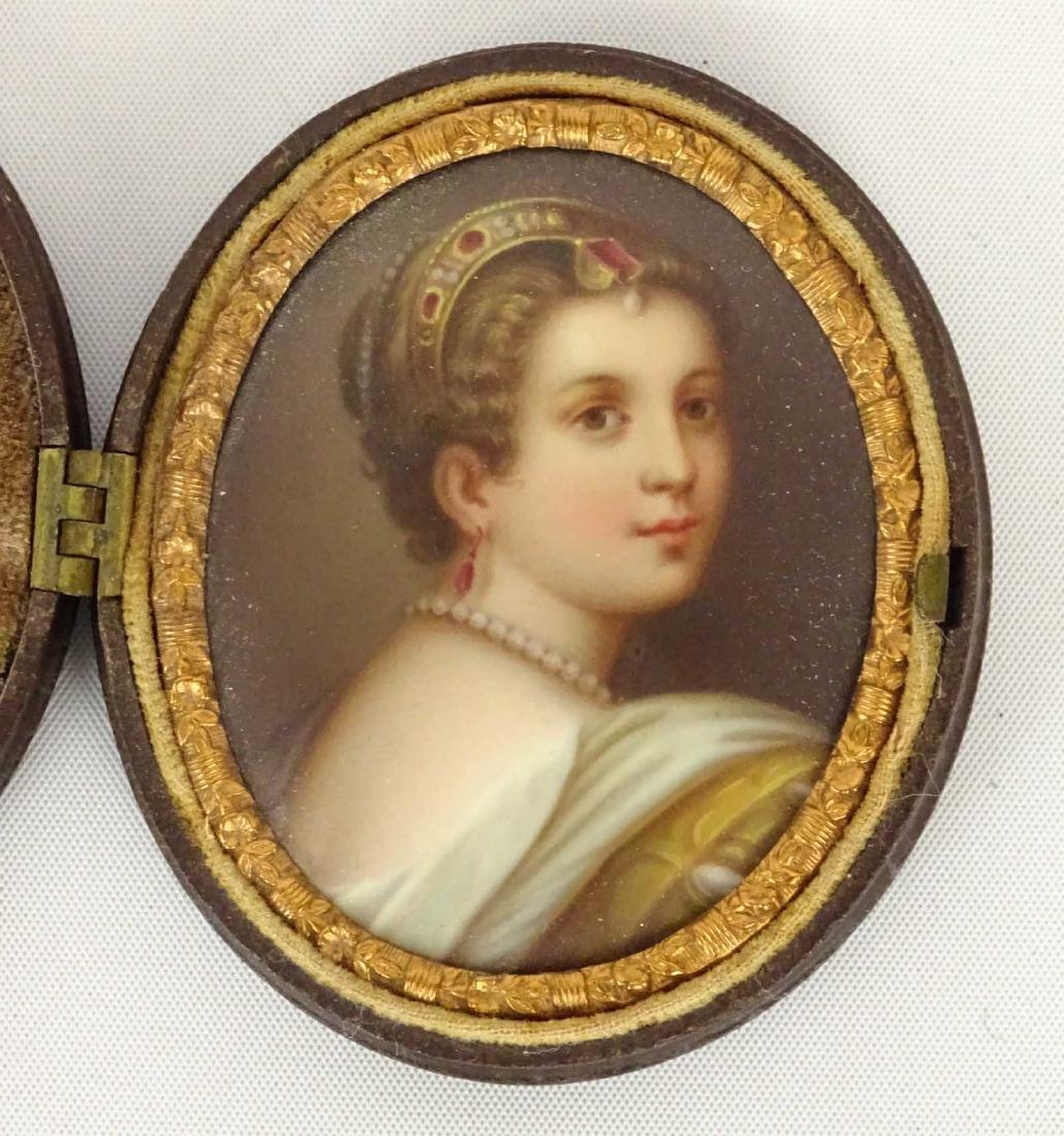 19th c. Miniature Portrait - 2