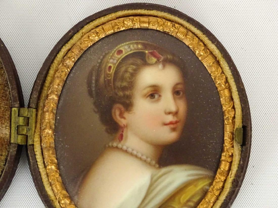 19th c. Miniature Portrait - 3
