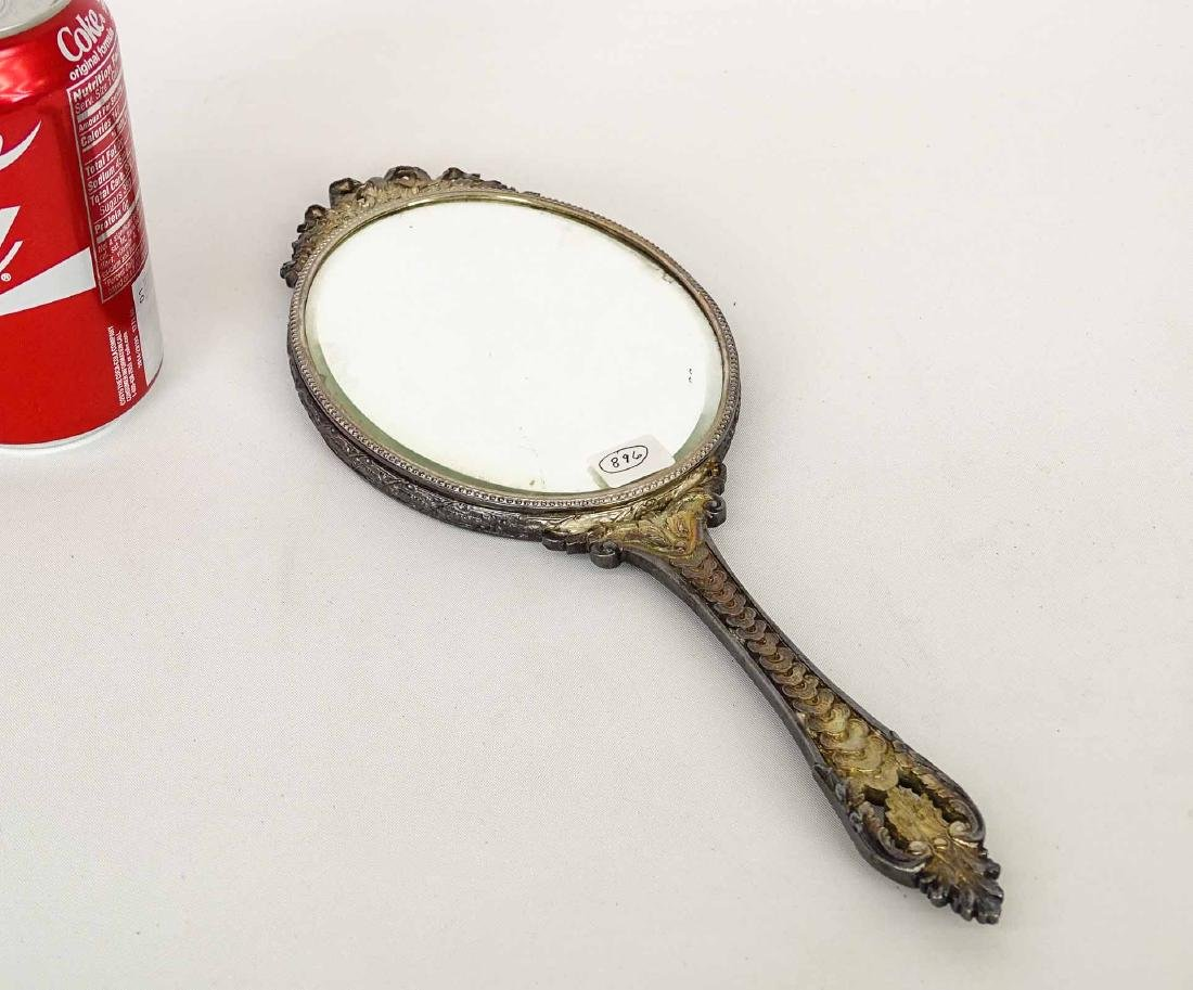 Hand Mirror With  Miniature Portrait