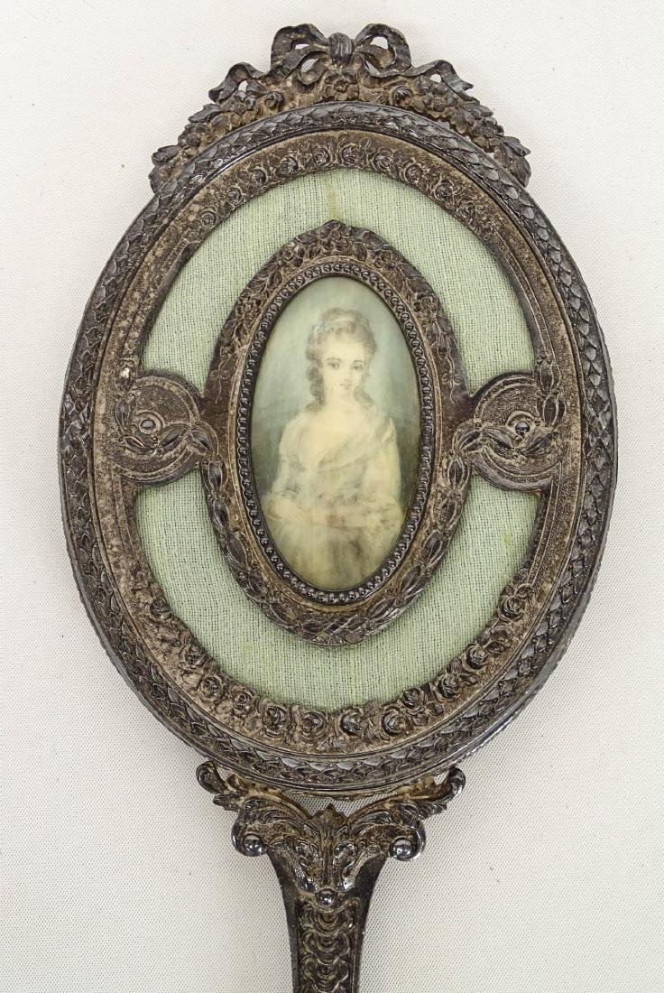 Hand Mirror With  Miniature Portrait - 2