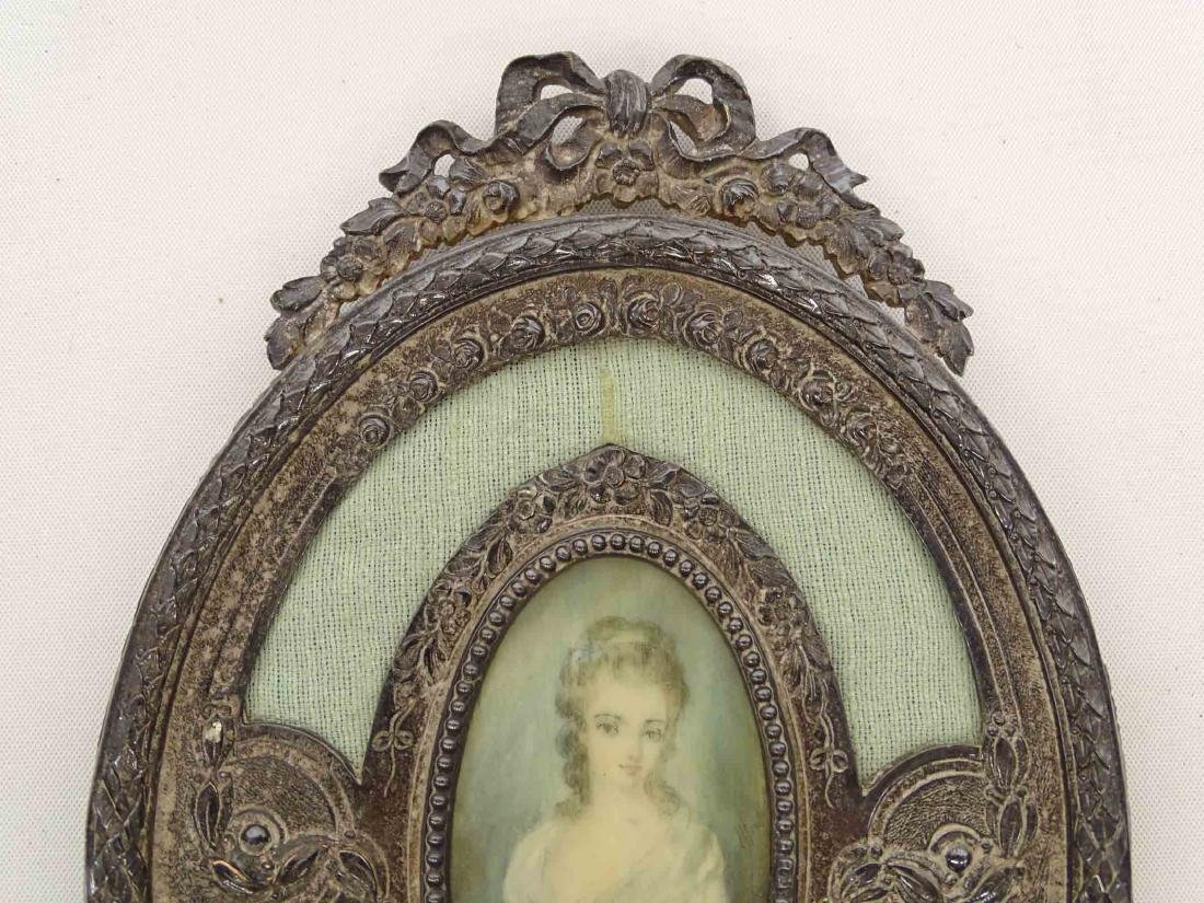 Hand Mirror With  Miniature Portrait - 3