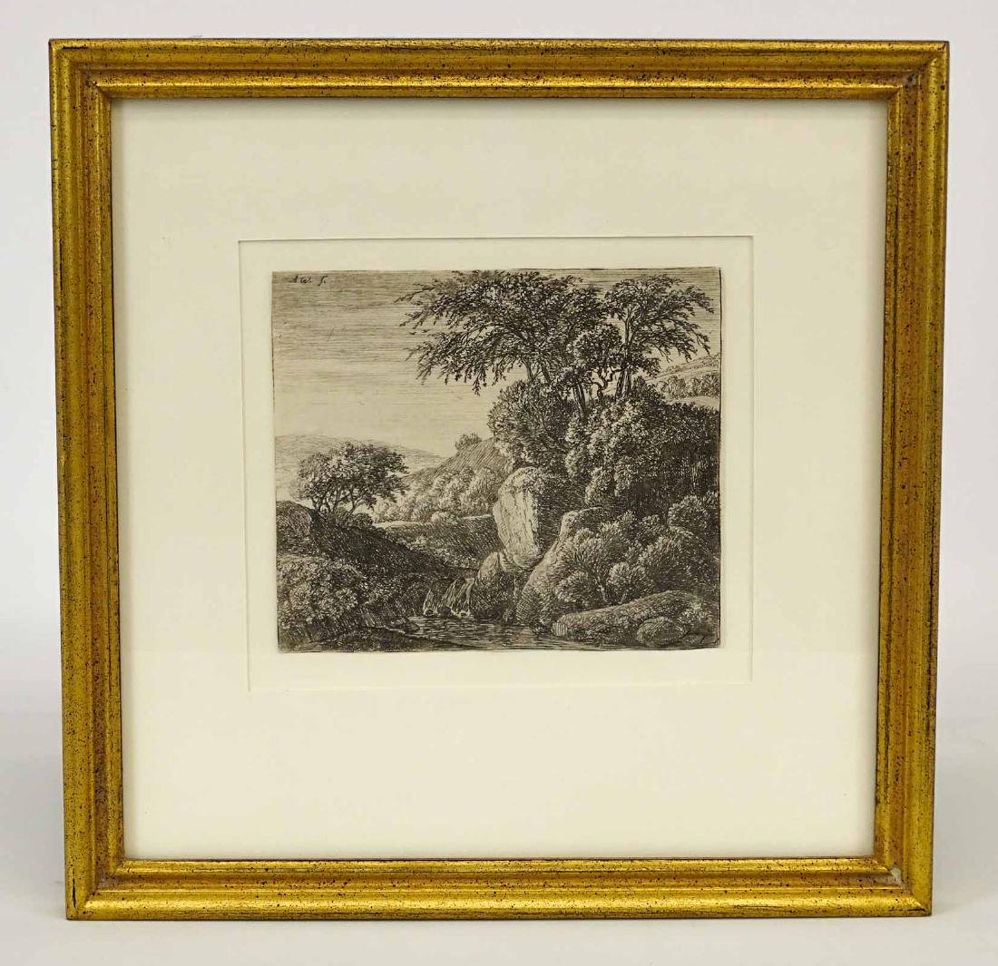 17th c. Dutch Etching By Waterloo