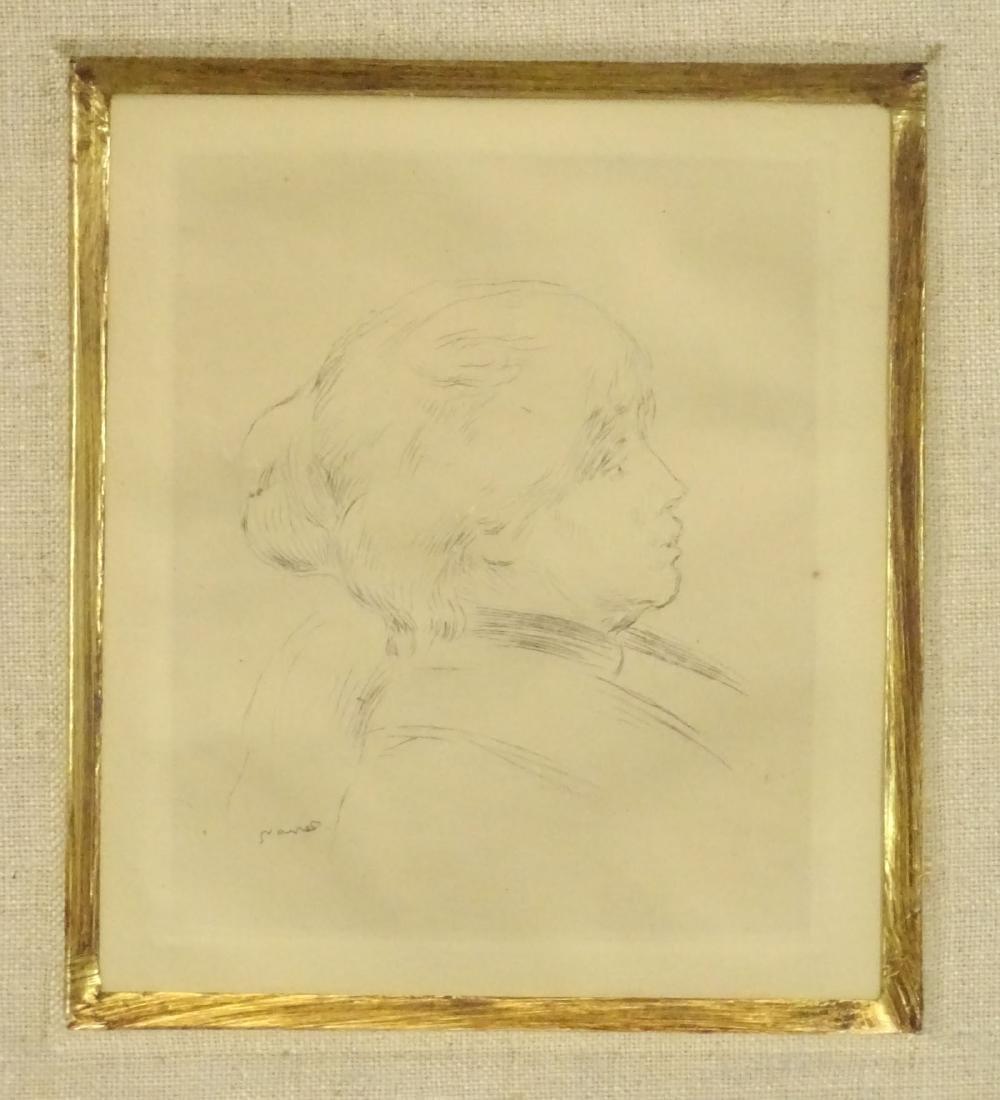 Berthe Morisot Etching By Renoir - 2