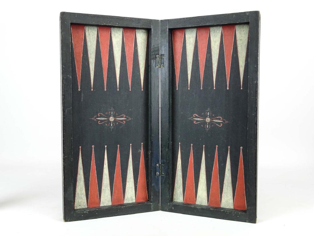 19th c. Folding Game Board
