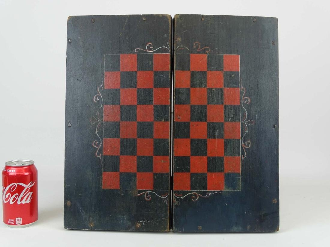 19th c. Folding Game Board - 2