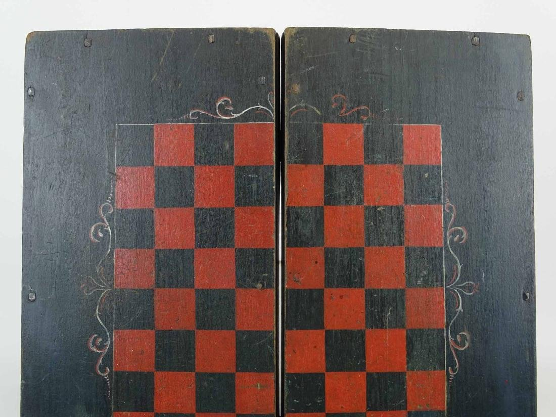 19th c. Folding Game Board - 3