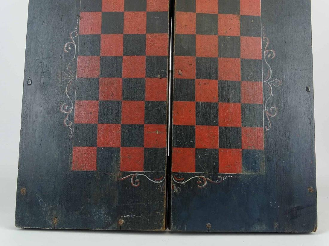 19th c. Folding Game Board - 4