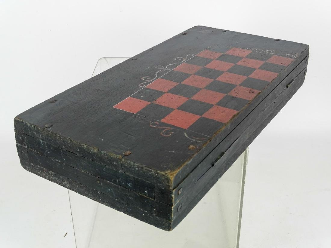 19th c. Folding Game Board - 5