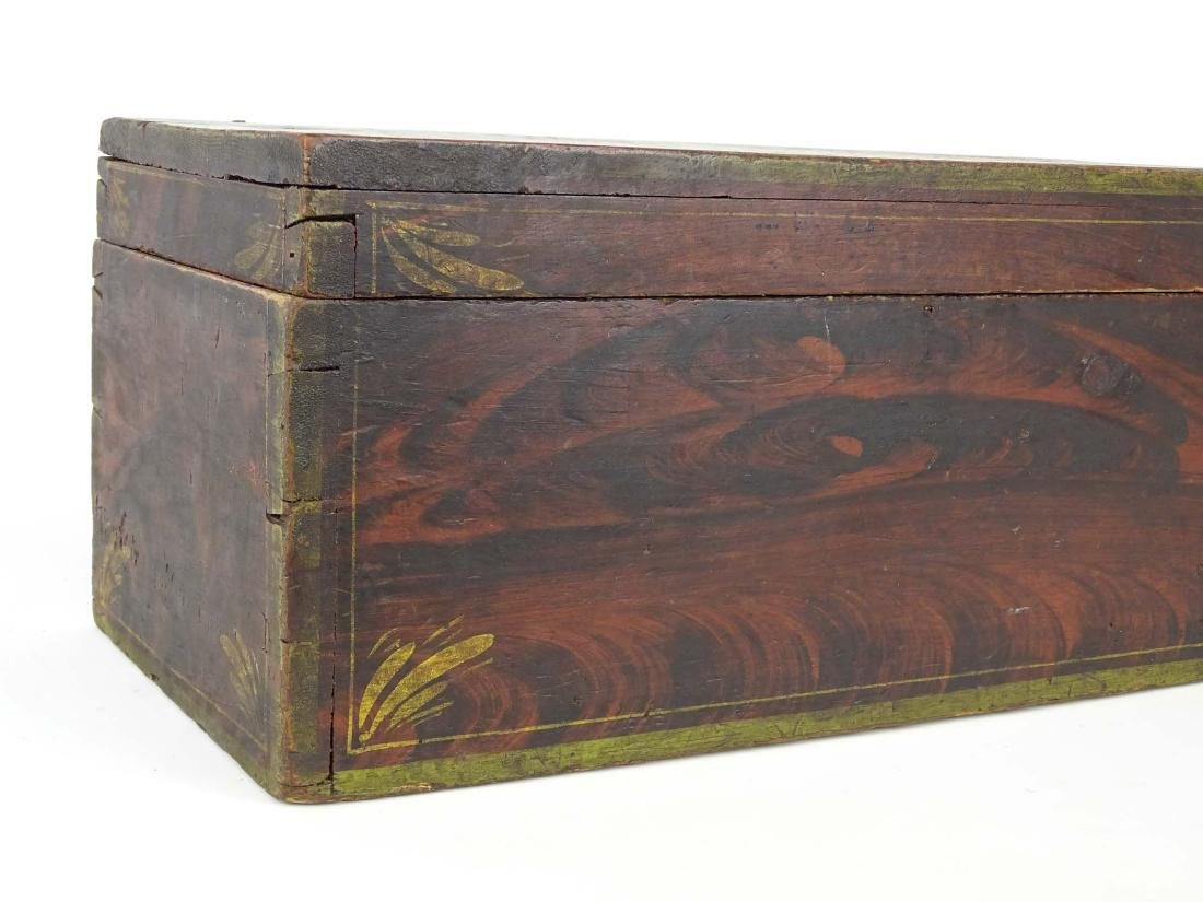 19th c. Paint Decorated Box - 2