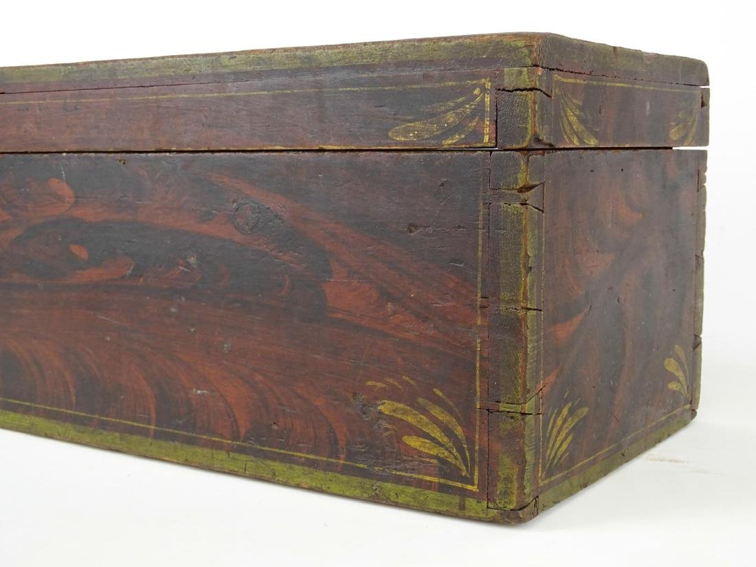19th c. Paint Decorated Box - 6