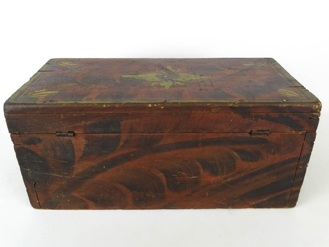 19th c. Paint Decorated Box - 7