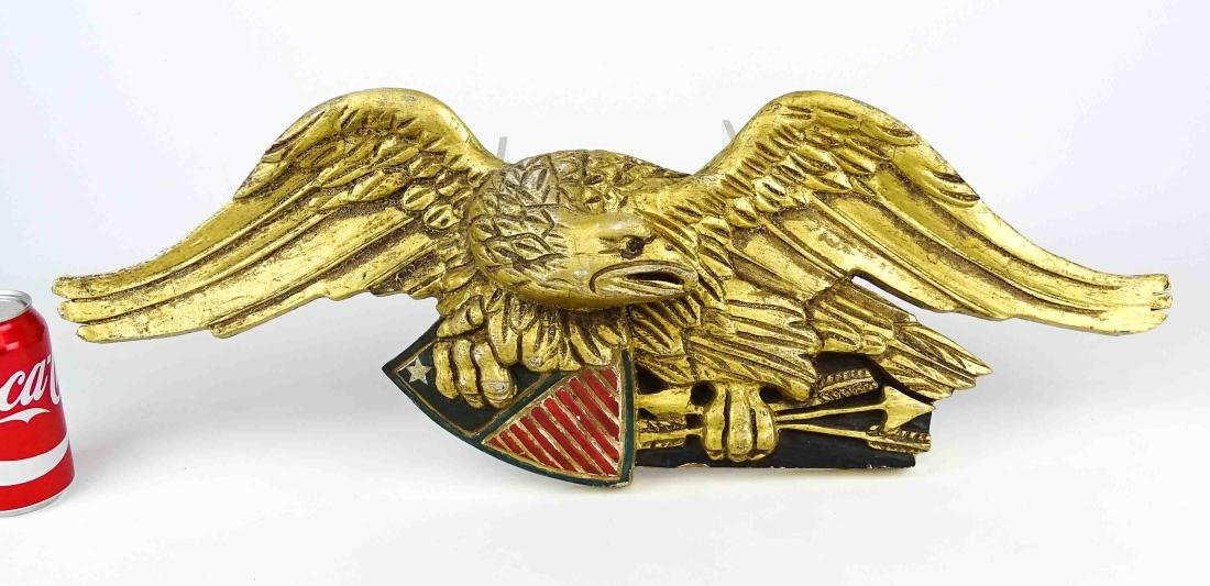 Carved Eagle Wall Plaque