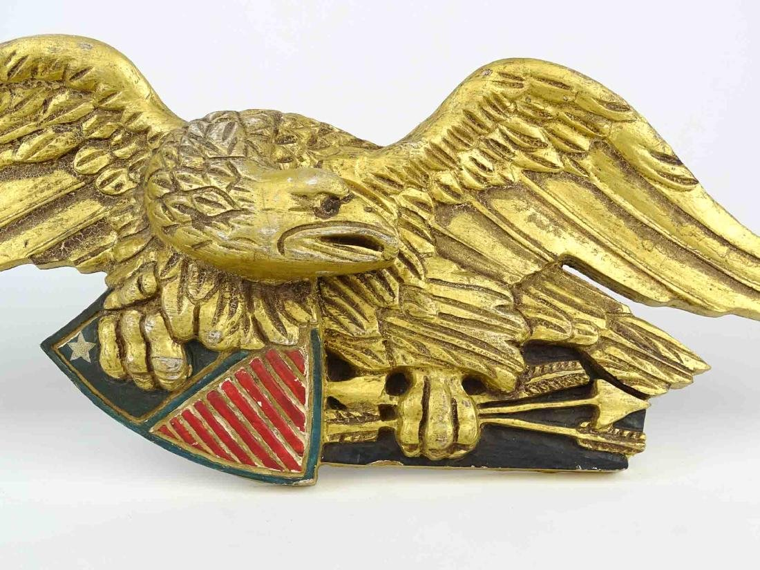 Carved Eagle Wall Plaque - 2
