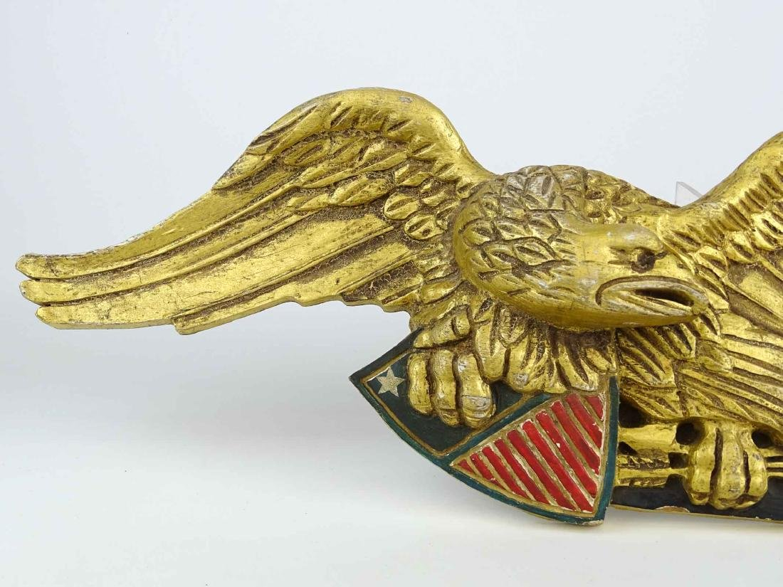 Carved Eagle Wall Plaque - 3