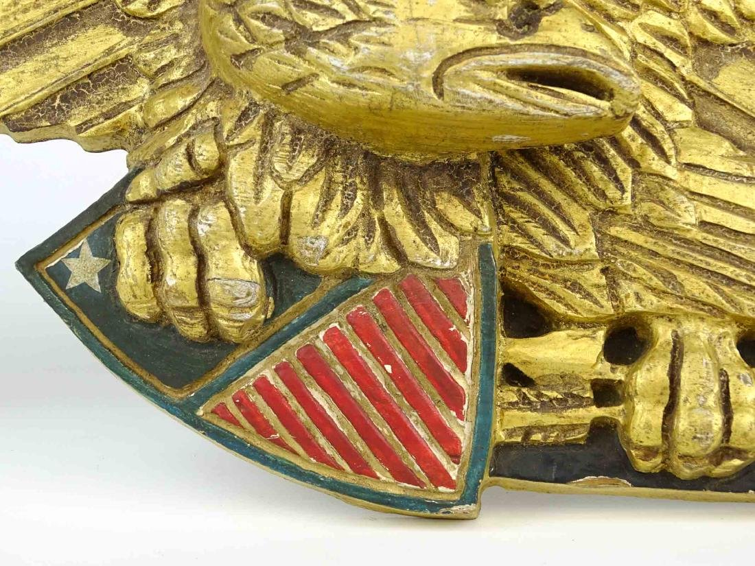 Carved Eagle Wall Plaque - 6